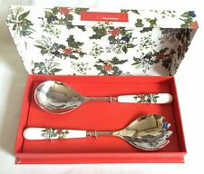 Portmeirion Holly and Ivy Salad Servers NEW and UNUSED Boxed