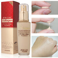 3W CLINIC collagen Foundation 50ml Perfect Cover BB Cream CC Cream Korea makeup