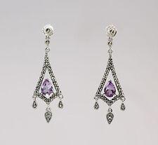 Amethyst-Ohrringe 925er Silber 9903154
