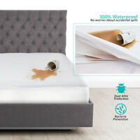 Hypoallergenic Waterproof Mattress Protector Cotton Terry Fitted Mattress Cover