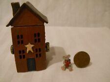 Boyd Bear Treasure Box 4013296 Grandpa's Prairie House with Hearth McNibble