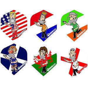 Designa DSX Funny Patriot Dart Flights Dart Gift Flight Pack 6 Designs 1-10 Sets