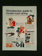 1967 Strombecker Slot Cars Sets~Kits Monte Carlo Road Racing Oddball Toy Ad