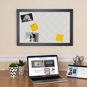 ArtToFrames Custom Cork Bulletin Board Minimal Framed in Satin Black