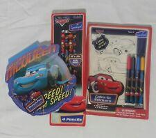 Disney Pixar Cars Lightning McQueen Sketch Pad /#2 Pencils /Color-In Stickers