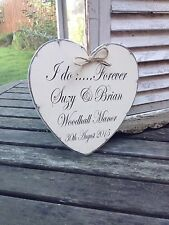 Distressed chic heart 'I Do..... Forever' personalised wedding sign