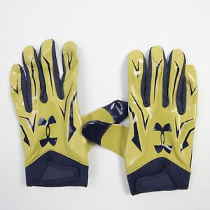 Under Armour Gloves - Receiver Men's Gold/Navy New with Tags