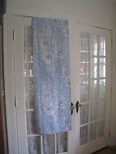 LAURA ASHLEY LIGHT BLUE & WHITE FABRIC SHOWER CURTAIN #212