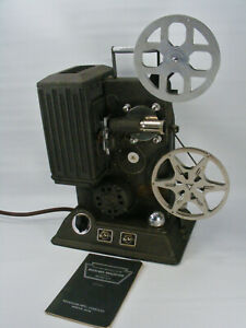 Vintage 1938 Keystone L-8 8mm Movie Projector w/ Case, Tested  See The *VIDEO*