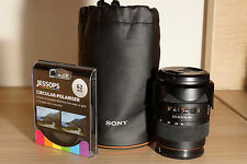 Sony Carl Zeiss SAL1680Z with two filters 16-80mm f/3.5-4.5 Aspherical Lens