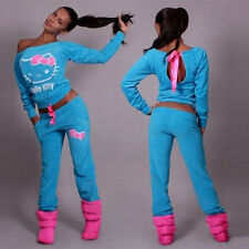 Ladies Women's Fashion Blue Tracksuit Sport suit Size 12 - 14 UK Hello Kitty