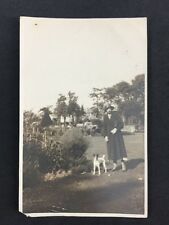 Vintage RPPC: Anonymous Woman: #A85: Woman In Park With Dog