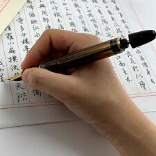 2019 Wing Sung 699 Vaccum Filling Fountain Pen Fine Nib Brown / Translucent Gift