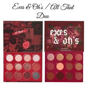 COLOURPOP EXES & OH'S  & ALL THAT EYESHADOW PALETTE  DUO ~ BNIB