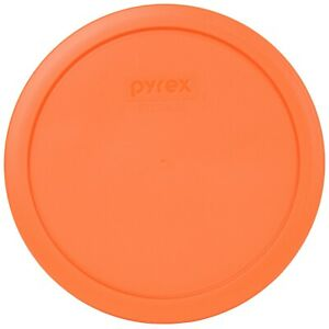 Pyrex Orange Plastic Round 6 / 7 Cup Storage Lid Cover 7402-PC for Glass Bowl