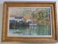 HENRY RICHARDS PAINTING CALIFORNIA SAN FRANCISCO IMPRESSIONISM AMERICAN MARINA