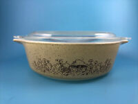 Pyrex Forest Fancies Mushrooms Small Covered Casserole Dish #471B Glass with Lid