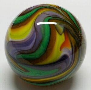 "Winlock Marbles ~ Handmade Glass Marbles ~ Lampwork Art Marble ~ 61/64"""
