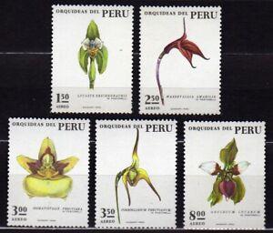 PERU #C377-C380 MNH VARIOUS ORCHIDS