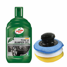 Turtle Wax Tyre Bumper Gel Plastic Rubber Cleaner Restorer + Applicator Pad Set