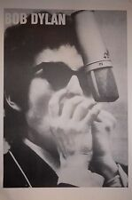 MUSIC POSTER~Bob Dylan Young Playing Harmonica at Microphone 23x35 UK Import~NOS