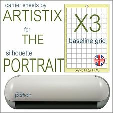 "A4 8""x12"" Silhouette Cameo Portrait Full Grid cutting mat economy Carrier sheets"