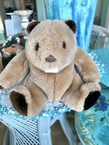 "Vintage Cute 1985 Gund Eager the Beaver 10"" Plush Stuffed Animal # 5768 Korea"