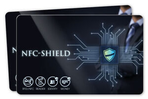 2x NFC Shield Card - NFC & RFID Protection / RFID Blocking Card for Credit Cards