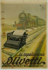 Poster Italien - size A3 cm. 31x42 Italy  - OLIVETTI
