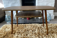 VINTAGE RETRO MID CENTURY 1960s COFFEE SIDE TABLE WITH MAGAZINE SHELF