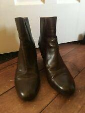 Maison Margiela MM6 Hidden Heel Chelsea Ankle Boots Brown Leather 40 UK 7
