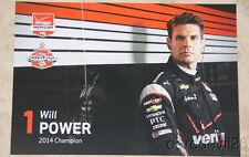2015 Will Power Verizon Chevy Dallara Indy Car postcard