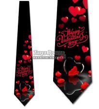 Valentine's Day Ties Mens Heart Necktie Holiday Tie