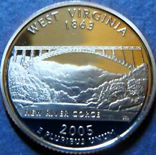"> 2005-S  STATE QUARTER DOLLAR ""PROOF"" WEST VIRGINIA, San Francisco Mint Coin #3"