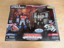 Transformers TRU Titanium Die.Cast Action Figures Optimus Prime V megatron new