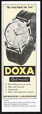 1950's Vintage 1955 Doxa Watch Co. Automatic - Paper Print AD