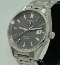 TAG HEUER 39mm MEN's CARRERA CALIBRE 5 STAINLESS STEEL AUTOMATIC WATCH WAR211C