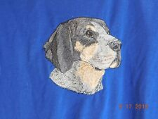 New Bluetick Coonhound Head View Embroidered T-Shirt