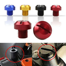New listing Motorcycle CNC Aluminum M10x1.25 Rearview Mirror Thread Hole Plugs Screws(Fits: 1985 CR125)