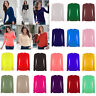 Women Long Sleeve Tshirt Top Ladies Round Neck Plain Tshirt Top All Sizes 8-26