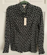 Rebecca Taylor Rue Women's Blouse Size 6 Floral Print Silk Top $295