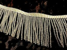 "VINTAGE French RAYON 2"" FRINGE  1940's~ ANTIQUE LIGHT GOLD/MAIZE 1 yard"