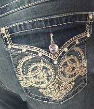 Woman's  EARL JEANS Bootcut Size 16W  Embroidered Torrid Cute!