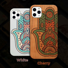 Hamsa Wood Case iPhone 13/12/11/11 Pro/Max/Mini, X/XR/XS Max