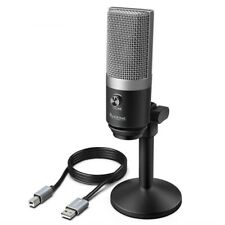 USB Microphone Laptop Computers Recording Streaming Voice Overs Podcasting Home