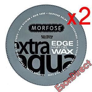 2x Morfose Extra Aqua Hair Gel Wax Edge Control with Bubblegum Scent 175ml