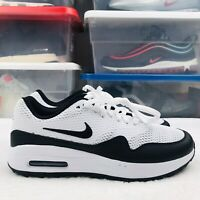 New Nike Air Max 1 G Men's  SPIKELESS GOLF SHOES BLACK CI7576 100 Size 8 New