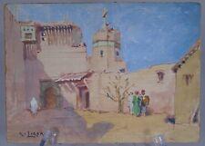 René Ligeron (1880-1946) - Eglise Sainte Croix, Alger - Belle gouache sur carton