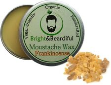 Frankincense Moustache Wax Strong Hold for Styling Handlebar Twists & Curls 15ml