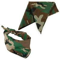 Bandana 3-6-12 PC Face Cover Military Camouflage Print Cotton Head Wrap Mask